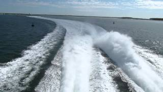 Nantucket - 9:10 HiLine Fast Ferry leaving Hyannis, MA, June 15, 2012