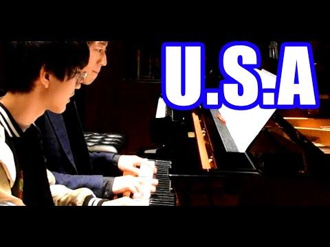 【ピアノ】「U.S.A」を連弾してみた【かてぃん×よみぃ】