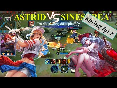 Top Astrid đối đầu Sinestrea mùa 16 lane tà thần | Top 1 Astrid mùa 16 Liên Quân Mobile
