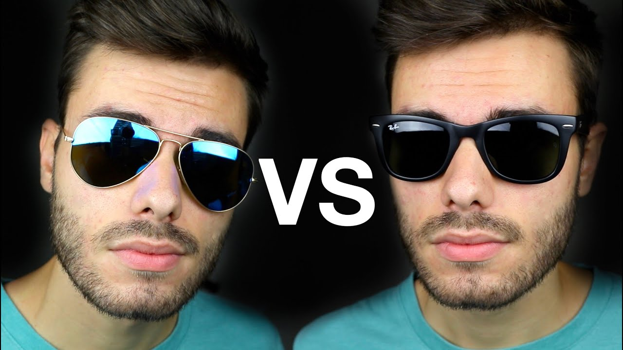 2cae19e96d4 Ray-Ban Aviator vs Wayfarer - YouTube