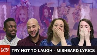 Kpop Misheard Lyrics Try Not To Laugh Challenge • Fomo Daily Reacts