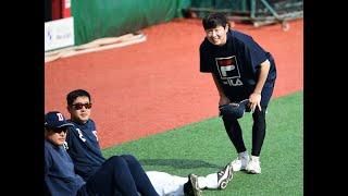 1군 복귀한 정수빈, '아이처럼 행복한 미소'