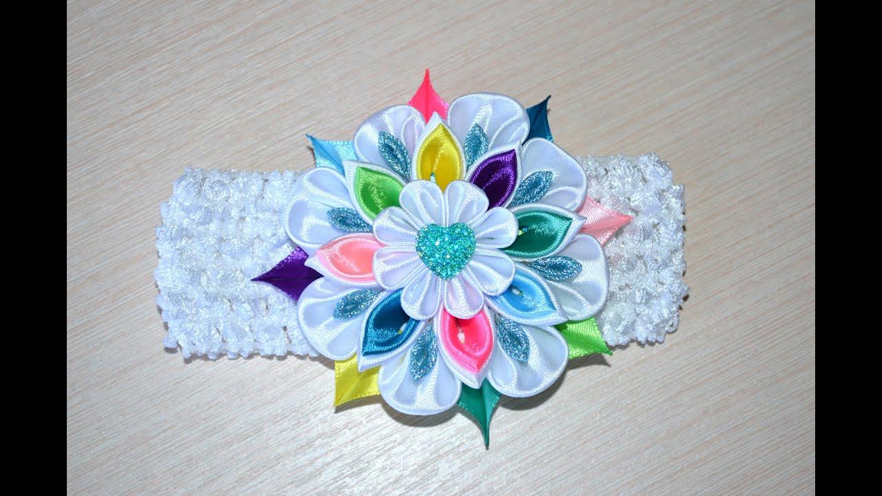 Детская бижутерия ручной работы. Ярмарка мастеров ручная работа. Купить повязка на голову для новорожденной красивым цветком. Handmade. Реквизит.