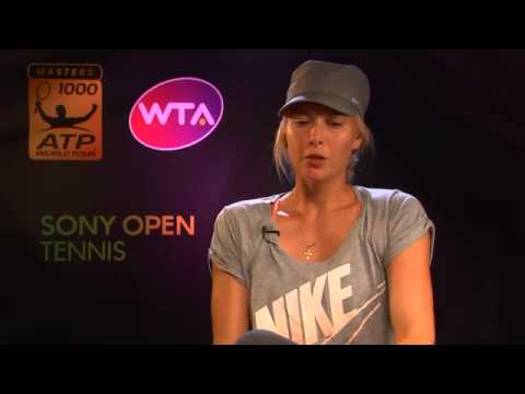 Sony Open Tennis Sharapova Interview 3-25