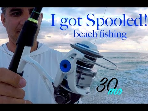 I got Spooled!! Surf fishing Pensacola Beach