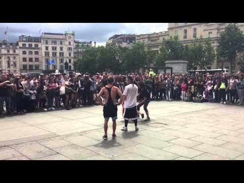 Dancing in London an Trafalgar Square July 2015