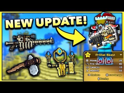 ANCIENT BONE GUNS!! | Pixel Gun 3D - New Update 14.1.0 [Review]