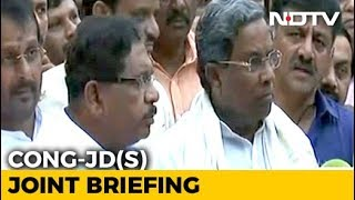 #ResultsWithNDTV: JD(S) Is Going To Form Government With Congress' Help, Says Siddaramaiah