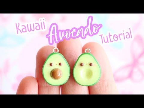 Kawaii Avocado BFF Charms│Polymer Clay Tutorial