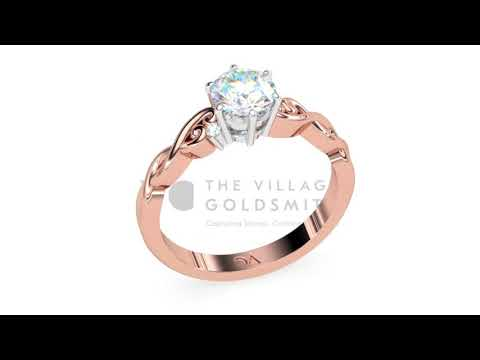 Cara Rose Gold Diamond Engagement Ring 2018