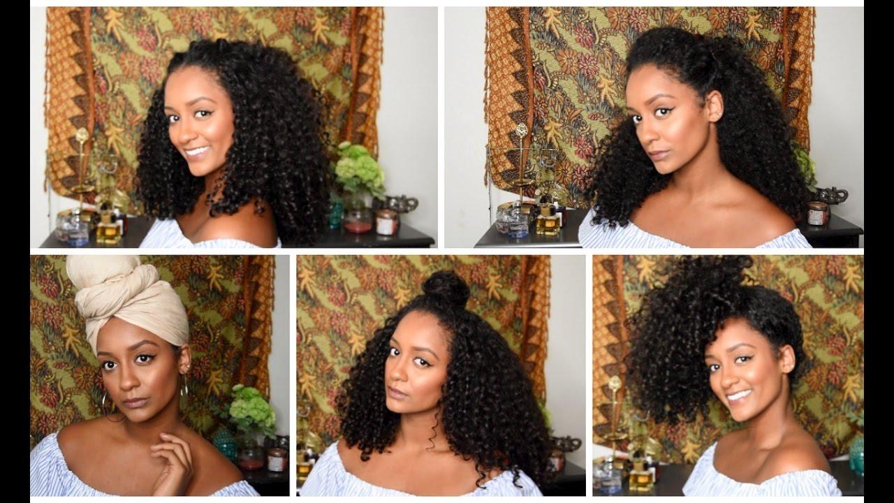 5 everyday curly hairstyles | hermela solomon