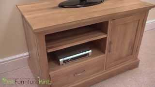 Aspen Solid Oak Small TV Cabinet