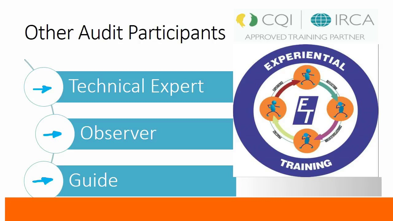 ISO 9001 2015 Lead Auditor Key Audit Participants - CQI IRCA QMS