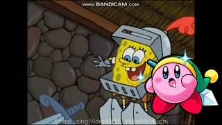 kirby copy abilities portrayed by spongebob idea by leafy the forest warrior