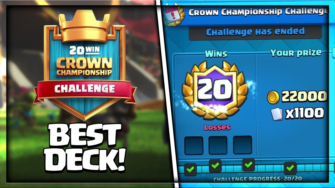 Best Deck For Crown Championship Challenge In Clash Royale