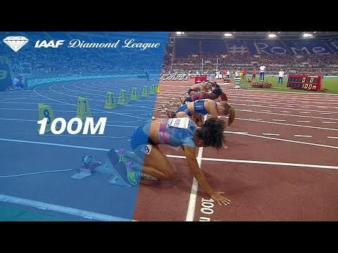 Dafne Schippers takes the victory in the Women's 100m - IAAF Diamond League Rome 2017