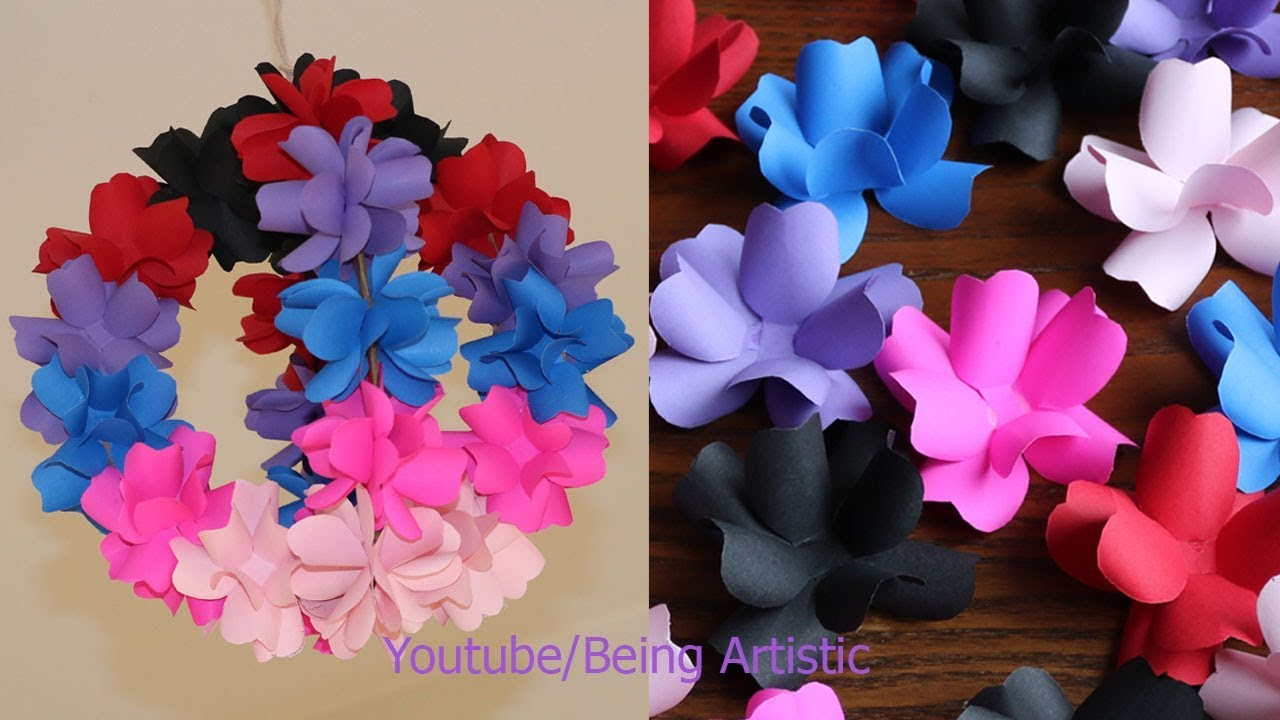Diy Simple Home Decor Hanging Flowers Home Decoration Ideas Youtube