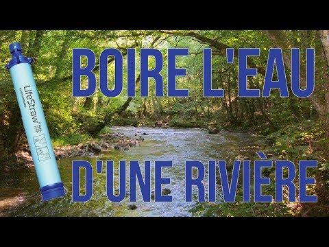 BOIRE L'EAU D'UNE RIVIÈRE !? - Test LifeStraw