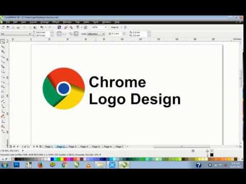 chrome logo design coreldraw