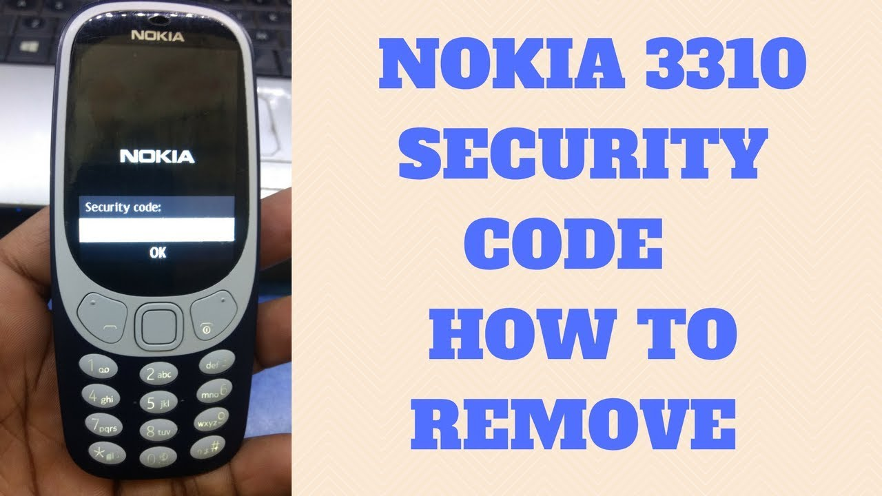 Nokia: how to remove the security code 51