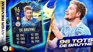 BEYOND UNDERRATED!!🥰 96 TEAM OF THE SEASON DE BRUYNE REVIEW! FIFA 21 Ultimate Team