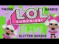LOL Surprise Doll Twins! The babysitter gets slimed! Barbie + Theresa