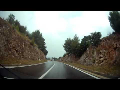 Drive timelapse from Zadar to Split, Croatia in HD 1440P (no audio)