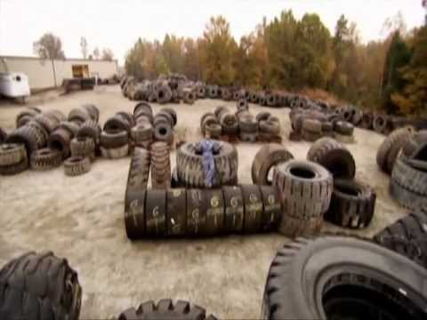 How Really Big Tires Are Recycled.wmv