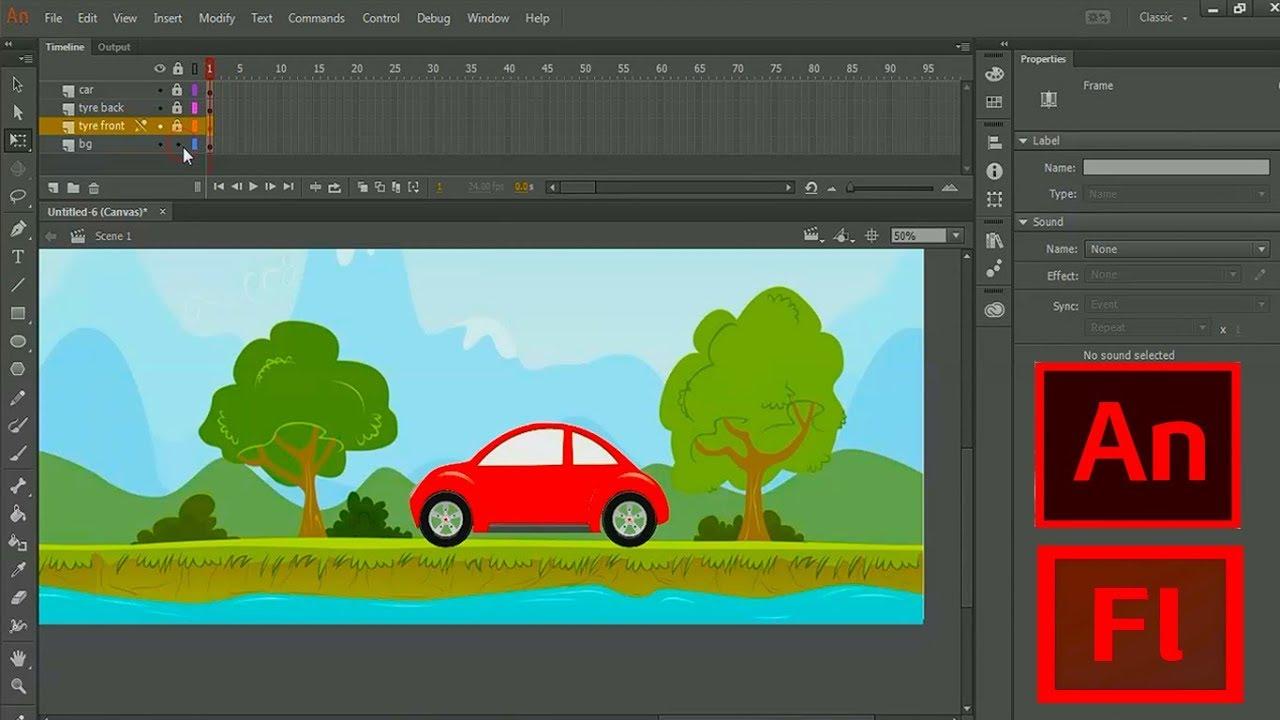 How to create a simple Car Animation - 2D Animation tutorial.