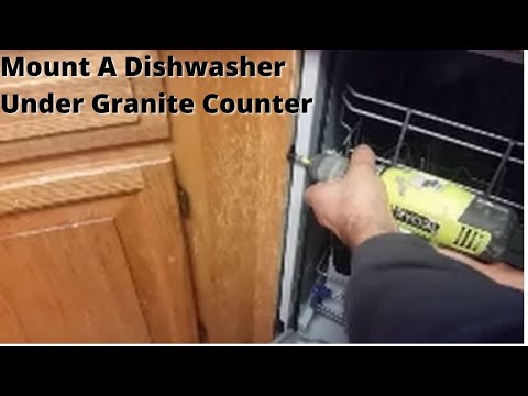 How To Mount A Dishwasher Under Granite Counter Top Youtube