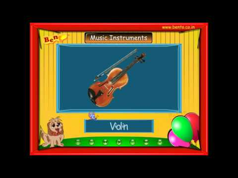Learn Names of Music instruments for Preschool kids