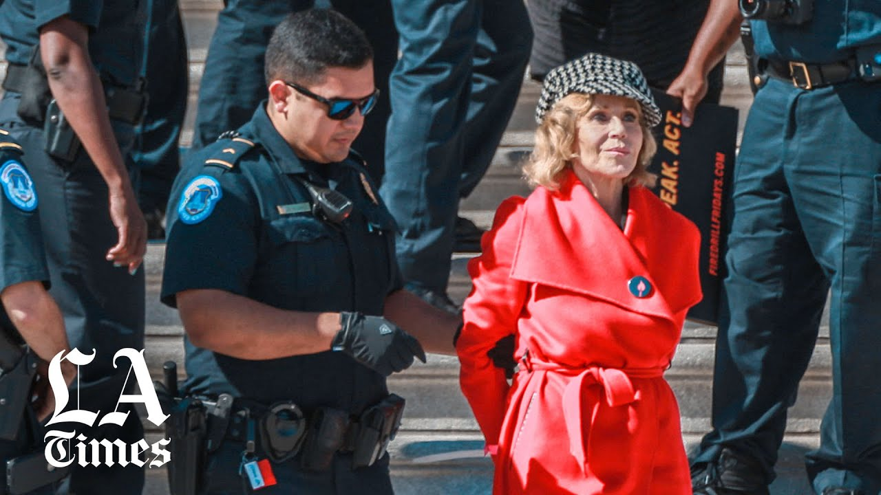 Jane Fonda Arrested In DC During Climate Change Protest