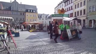 Spaziergang in Weimar(Thüringen)durch die City bis zum Bahnhof