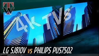lG SJ810V vs Philips PUS7502 Smart TV