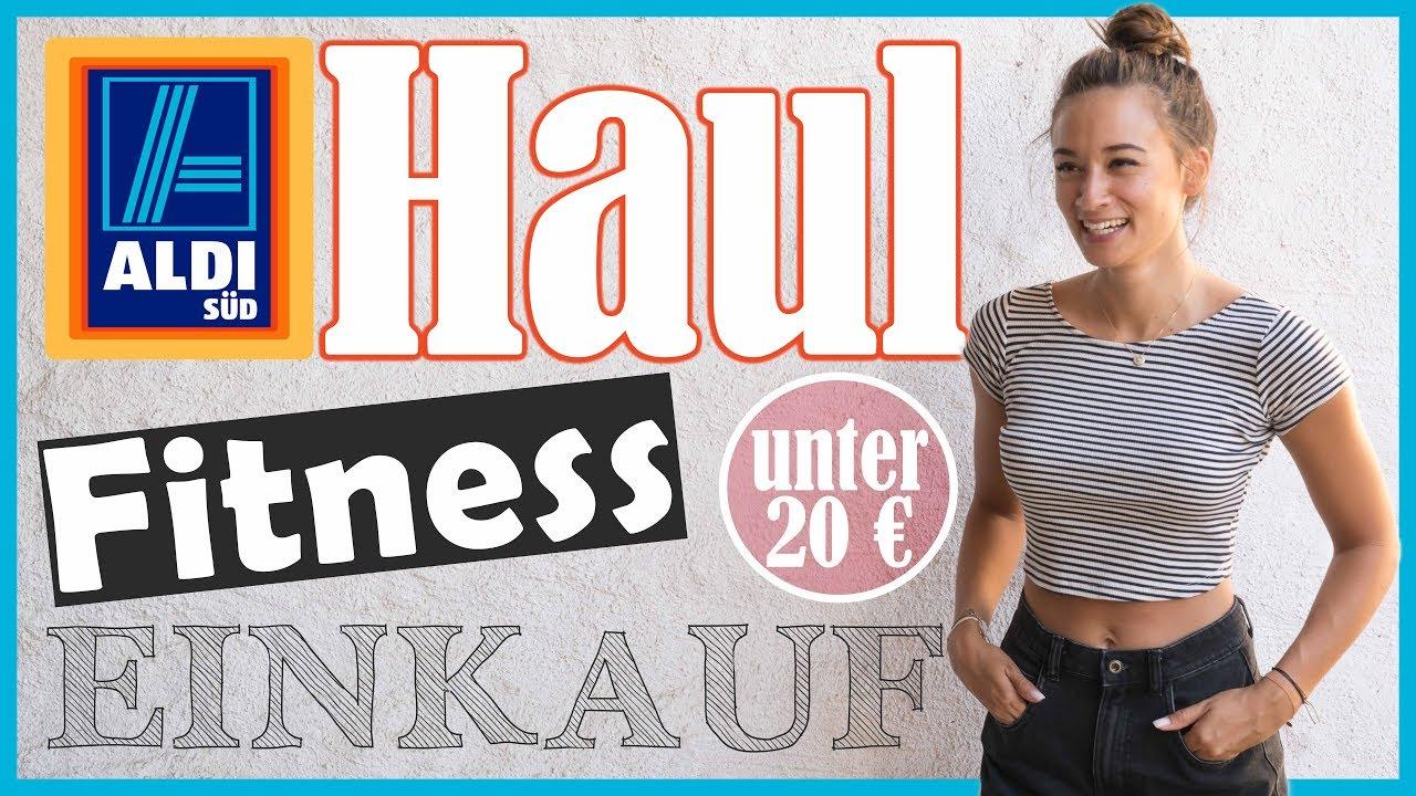 Fitness Einkauf ALDI Haul unter 20€ Discounter Shopping Günstig gesund Ernähren
