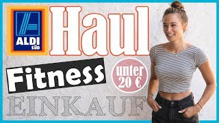 Fitness Einkauf - ALDI Haul unter 20€ - Discounter Shopping - Günstig gesund Ernähren