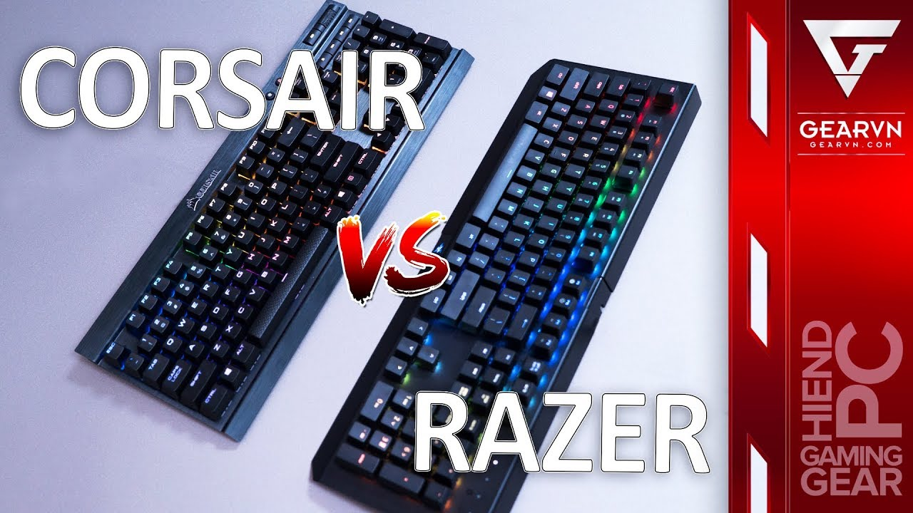 So sánh bàn phím cơ   K70 LUX RGB vs Blackwidow X Chroma   4 triệu nên chọn em nào ?