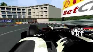[F1C] Lotus-Renault E20 @Monte Carlo Circuit - James Hunt Helmet (mod HLT 2012) [HD]