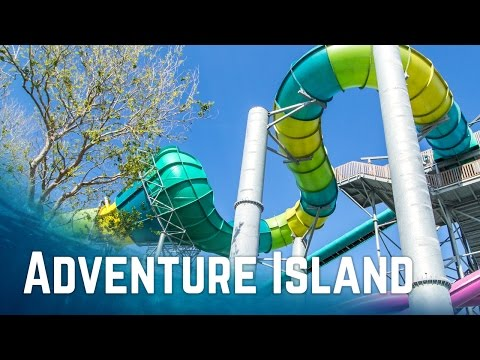 All Water Slides at Adventure Island Tampa, Florida (POV)