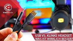 USB vs. Klinke - Was ist besser für Gaming Headsets? |  Lioncast LX55 VS. LX55 USB VS. LX60