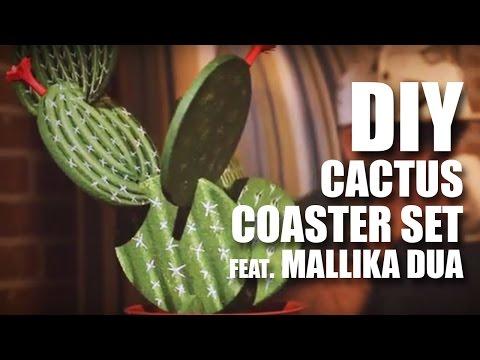 How to make a DIY Cactus Coaster Set feat. Mallika Dua