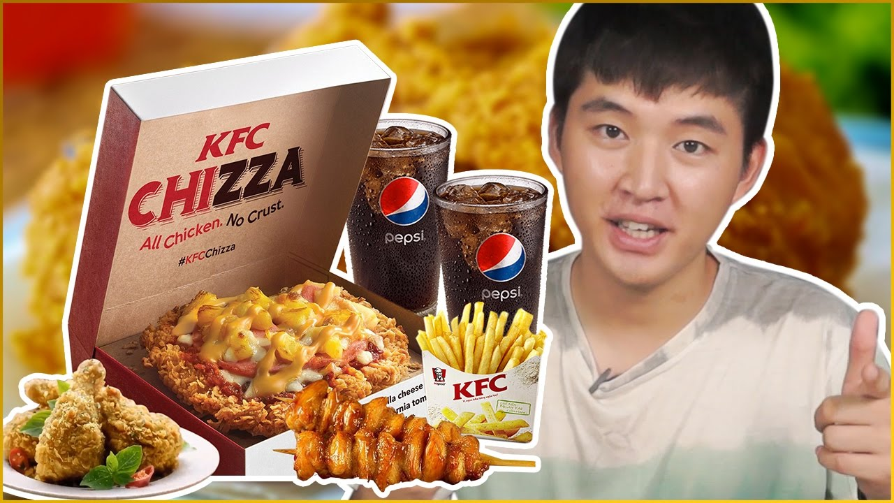 CHIZZA KFC - Món mới tại KFC có ngon không ? Woossi review gà KFC