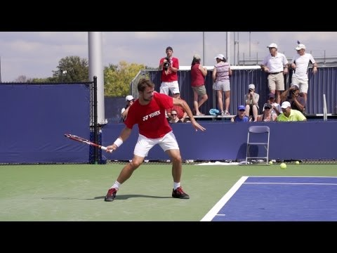 Stanislas Wawrinka Forehand In Super Slow Motion - 2013 Cincinnati Open