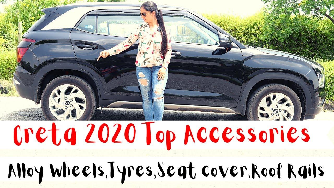 Creta 2020 Top Accessories Alloy Wheels Tyres Seat Cover Roof Rails Price Hyundai Creta Black Youtube