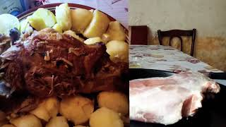 запеченное Мясо  Козы , Козлятина в Духовке целиком