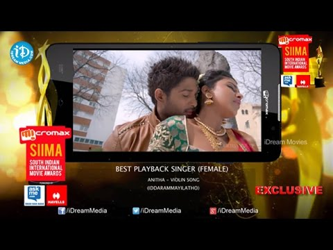 SIIMA 2014 Telugu Best Playback Singer Female - Anitha - Violin Song