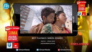 Siima 2014 Telugu Best Playback Singer Female Anitha Violin Song