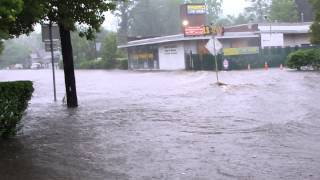 More flooding on New York Avenue, Huntington, NY | June 7 2013