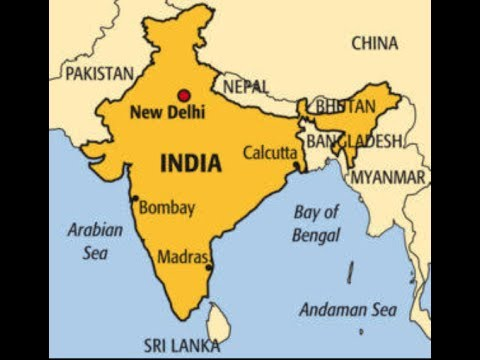 Indian Neighbouring countries show with map || Indian neighbours map