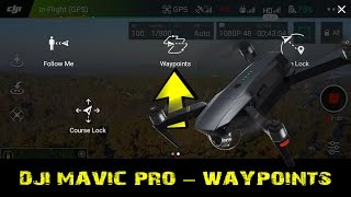 DJI MAVIC PRO WAYPOINTS MISSION